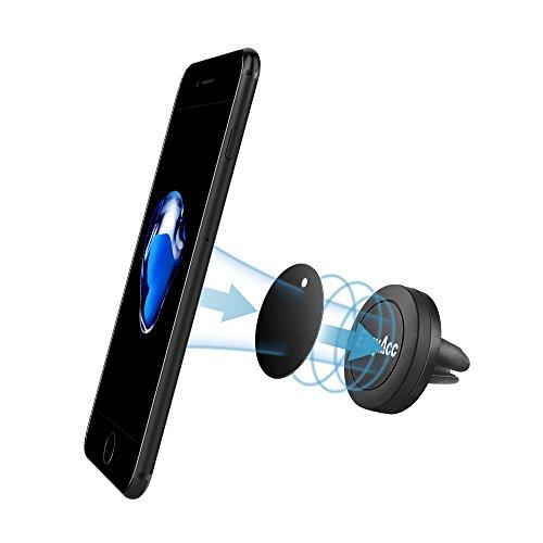 Preisvergleich Produktbild Magnet Autohalterung, EasyAcc Auto Lüftung KFZ Magnet Handyhalterung 360 Drehen Mini-Halter Universal für Alle Smartphones iPhone7 / 6s / 6s Plus / iPhone 6 / 6 Plus, Samsung Galaxy S6 S7 / A5 2016 und jedes andere Smartphone oder GPS-Gerät