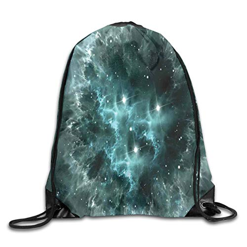 Outer Space Duvet Cover Set Planet In Milky Way Dark Nebula Gas Cloud Celestial Solar Eclipse Galaxy Theme,Multicolor_2Drawstring Shoulder Backpack -