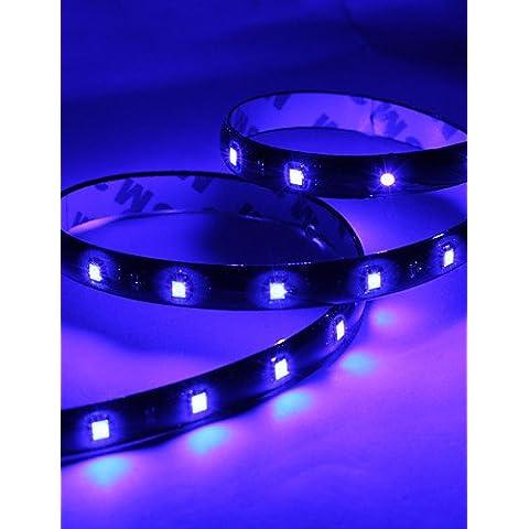 XMQC*60cm 30x1210 Tira de luz azul de LED Lámpara para coche (12V DC)