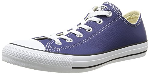 Converse Chuck Taylor All Star Adulte Seasonal Leather Ox, Baskets mode mixte adulte Bleu (5 Bleu)