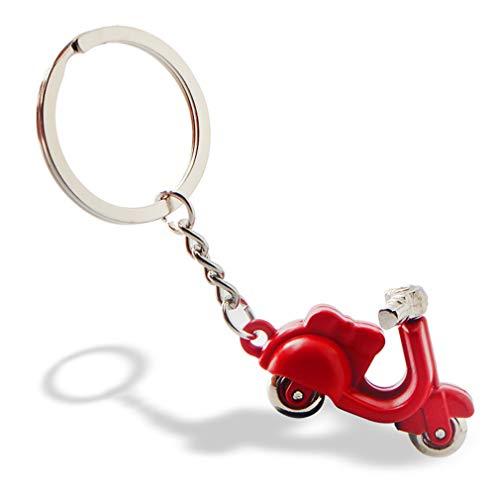 hsy Auto Keychain, italienische Motorrad Schlüsselanhänger/Unisex Persönlichkeit Schlüsselanhänger/kreative Mode Anhänger/Vintage Hose Kette/Taille Ornament/Geschenk