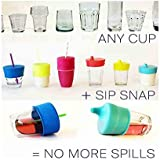 We Store 1 Baby Sipper Lids For Kids Converts Any Cup Or Glass To A Sippy Cup, Makes Drinks Spill Proof, Reusable, Durable (Pack Of 2) Colour As Per Stock Available