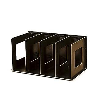 WEIZQ CD Ständer DVD Ständer CD Aufbewahrung DVD Aufbewahrung CD Halter DVD Halter Medienbox Regal Bücherregal Tisch-Organizer