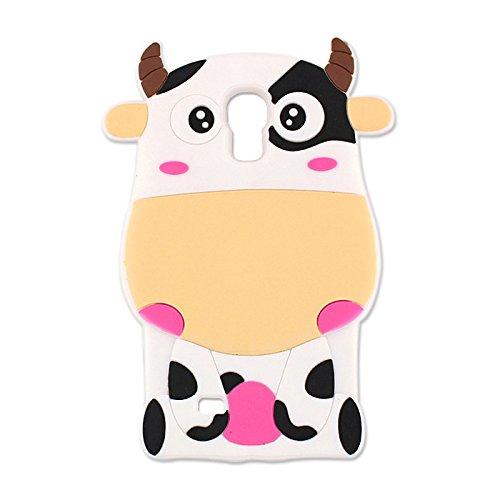 "BACK CASE 3D COW / KUH Für Apple iPhone 6 4,7"" Apple iPhone 6S Apple iPhone 6 Silikon Hülle Handy Tasche Case Cover Flip Silikonhülle Backase (rosa / pink) gelb / yellow"