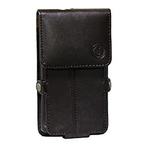 J Cover A6 G12 L Series Leather Pouch Holster Case For Samsung Galaxy On Max Brown