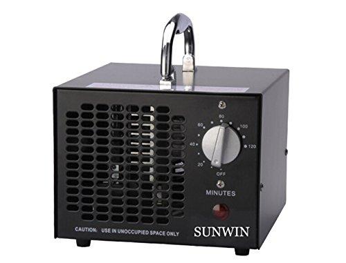 Commercial Ozon-Generator 3500mg 3,5g Industrie Luftreiniger schwarz Parfum (schwarz)