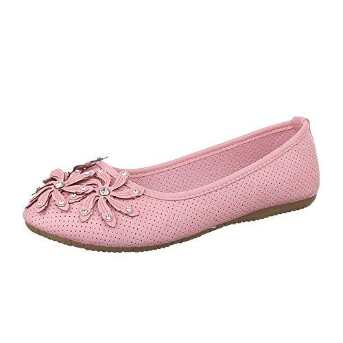 Damen Schuhe, K805, BALLERINAS SOMMER Rosa