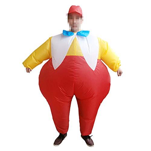 LOVEPET Fett Bruder Aufblasbare Kostüm Halloween Weihnachten Erwachsene Cosplay Karnevalsparty Parodie Lustige Aktivität Performance Requisiten Anzug
