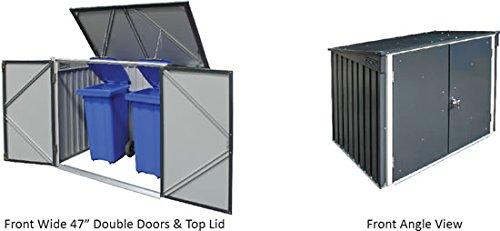 Duramax 5x 3ft Mülleimer Store–Anthrazit Grau/aus weiß - 7