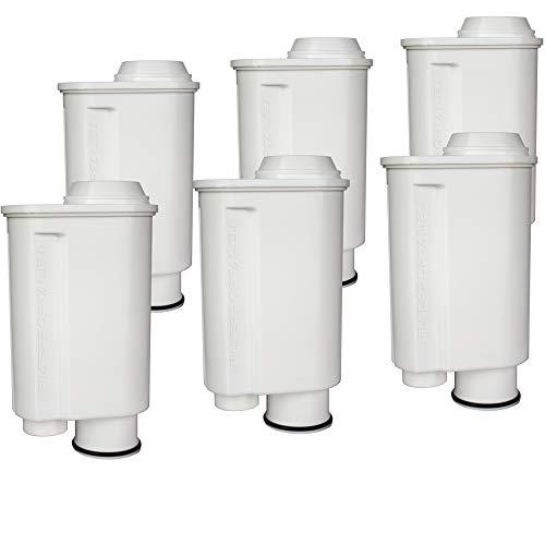 Juego de 6 filtros de agua para cafetera espresso compatible con Philips Saeco Brita Intenza+ Plus...