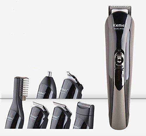 Tezam tutto in uno ricaricabile capelli Grooming kit, Corpo orecchie naso barba Rasoio Trimmer e taglierina dei capelli per Barber, Nero