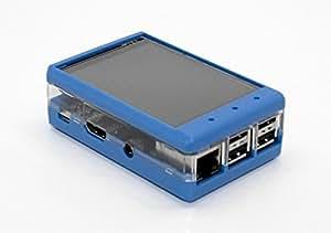"""3.2 """"TFT LCD Transparent affaire pour Raspberry Pi 2 (Bleu)"""