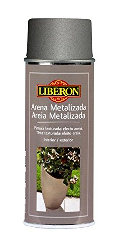 Liberon - Spray pintura efecto arena metalizada 400 ml estaño