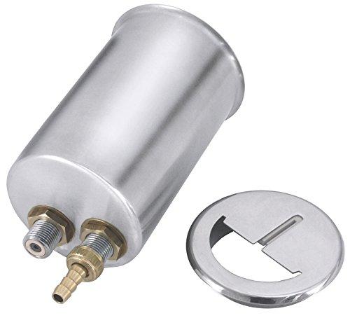 Support Racloir de couteaux, einbaufähig, en acier inoxydable 18/10, avec raccordement à l'eau, Cylindre simple, couvercle avec abstreich caoutchouc | erk