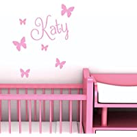 Personalised Wall Name with Butterflies - Custom Nursery Sticker
