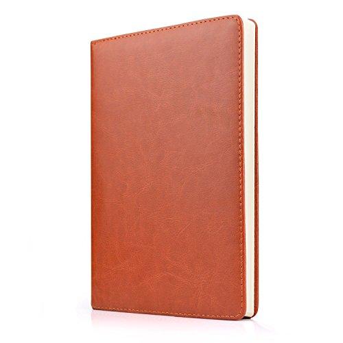 block,Rock Ninja A5 Klassisch gefüttert Journal Elegantes Notizbuch aus weichem Leder mit Premium-Papier, Seite Teiler Geschenke, Schwarz/Braun, 240 Seiten ()