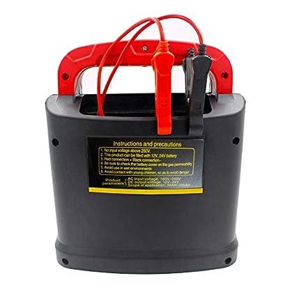 41hK5Air2fL. SS416  - Huihuiya Cargador portátil Inteligente Coche del vehículo Vehículo de Motor 350W 14A Ajuste del Coche LCD Cargador de batería Coche Salto Arrancador Booster-Rojo y Negro