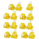 15 piezas de montaje del tornillo de prueba del prototipo del accesorio amarillo plantilla para la placa PCB de bricolaje