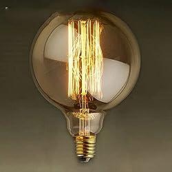 ANDEa Retro Lampadina, creativo Loft Industrial Style Lampadina lampadina della decorazione della lampada ad incandescenza a filamento di tungsteno della vite E27 Bocca di illuminazione Sorgente di luce 80 * 120cm (Regalo uno) ( dimensioni : 80*120mm )