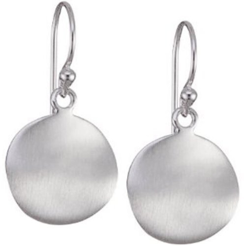 Vinani Ohrhänger Kreis gewellt mattiert Sterling Silber 925 Ohrringe OKM