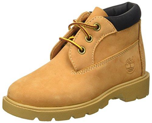 Timberland Waterproof Unisex Kids Chukka Boots Beige Wheat 13 UK 32 EU