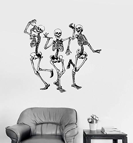 JXAA Street Dance Aufkleber Vinyl Wall Applique lustige Dance Bone Party Horror Halloween Aufkleber, Mode Wohnkultur Wohnzimmer 44x42cm