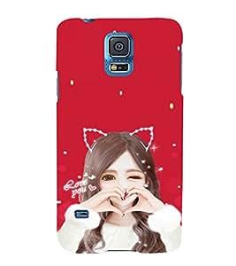 EPICCASE Love Girl Mobile Back Case Cover For Samsung Galaxy S5 Mini (Designer Case)