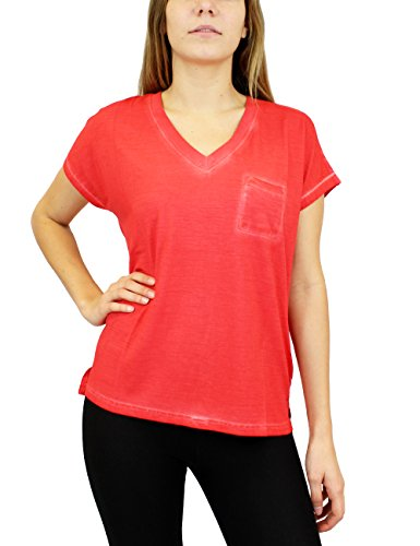 Eleven Paris BOLLY W - T-shirt - Femme Rouge - Rot (ACID WASH JOHAN AW28)