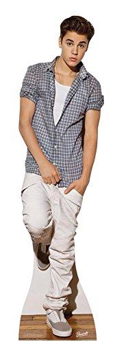 Pappaufsteller Justin Bieber Karierte Bluse Poster