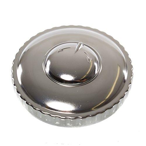 Tankdeckel Ø60mm, abschließbar - hochglanzverchromt - z.B. für ETZ, Sperber