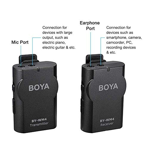 Boya BY-WM4 Microphone sans fil Lavalier avec écran en temps réel avec étui rigide pour appareil photo reflex numérique Canon Nikon Sony Cam... 9