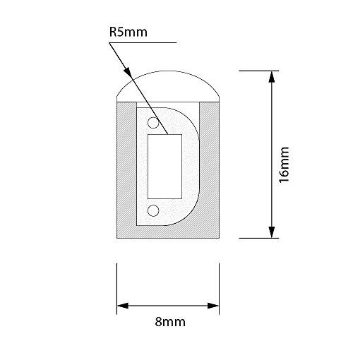 CLE LED Design SINGLE Schlauch Neon Flex Rolle 50m 230V warmweiß 3000K