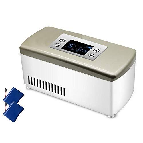LXMBox Tragbare Insulin-Gefriertruhe, Mini Smart Car Refrigerator, Drogenkühler, Kühlbox für Reisen/Augentropfen/Interferon/Drogenspeicher,D