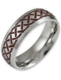 Herr der Ringe Jewelry Unisex-Ring Edelstahl  rot 1025