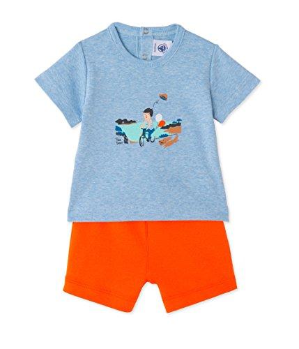 2p Shorts (Petit Bateau Baby - Jungen Bekleidungssets Ensemble 2p T-Shirt MC + short_24595 24595, Gr. 80 (Herstellergröße: 12m/74cm), Mehrfarbig (mario/brazilian 55))