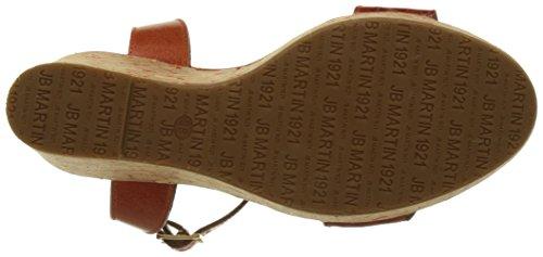 Jb Martin 2ola E17, Sandales Plateforme Femme Orange (V Chianti/V Croco/T Lie Arancio)