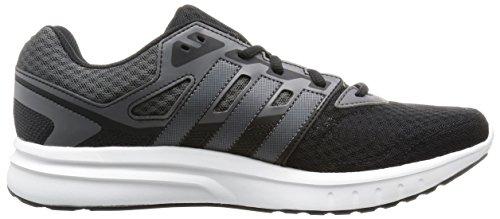 adidas Galaxy 2 M, Chaussures de Running Homme, Noir Noir / blanc / gris (noir essentiel / nuit métallique / granit)