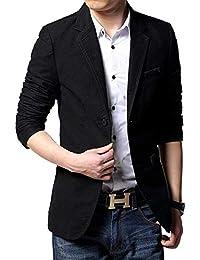 HX fashion Herren Slim Fit Anzugjacken Stilvolle Casual Freizeit Sakko  Blazer Bequeme Größen Business Kurzmantel Baumwollsakko 1aadc59fd4