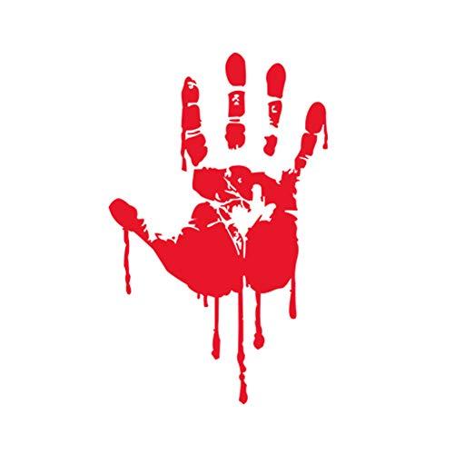 nheimlich Blutige Handabdrücke Fenster Klammern Decals Horror Aufkleber Badezimmer Dekor Zombie Walking Dead Party Dekorationen ()