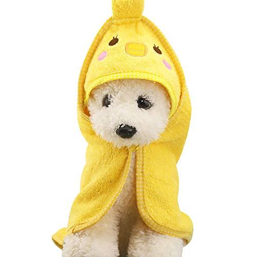 RIsxffp Mascota Perro Gato de Dibujos Animados Animal Albornoz baño Toalla Cachorro...