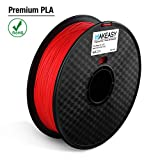 Filament PLA + 1.75mm Makeasy PLA PLUS Filament 1.75mm Pour Imprimante 3D, stylos 3D 1kg 1 Spool Rouge