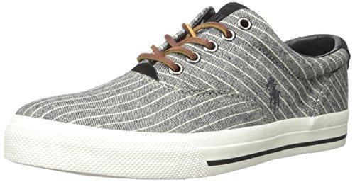 Polo Ralph Lauren Vaughn Suiting-stripe Fashion Sneaker Black