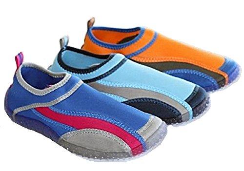 Damen Surfschuhe Badeschuhe Strandschuhe Aquaschuhe 3farbig Orange