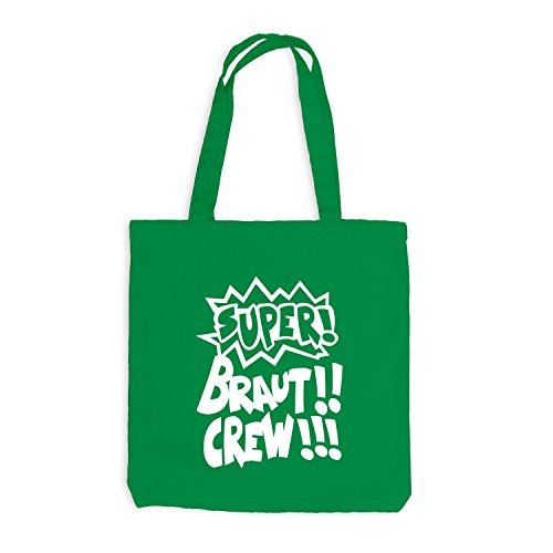 Borsa Di Juta - Addio Al Nubilato - Cartone Animato Super Crew - Jga Style Kelly Green