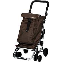 Playmarket Go Up - Carro de compras, capacidad 39,5 l, tapa regulable, bolsa térmica de 6 l, color chocolate