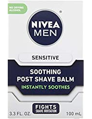 Nivea Men Sensitive Post Shave Balm with Zero Percent Alcohol (100 ml), After Shave Balm for Men, Men's Skin Care and Shaving Essentials