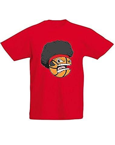 Basket Head, Enfant T-shirt imprimé - Rouge/Transfert 12-13
