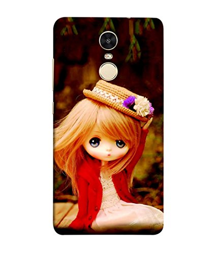 Fabcase barbie doll computer animated little hat flowers blonde hair blue eyes Designer Back Case Cover for XIAOMI REDMI NOTE 4  available at amazon for Rs.347