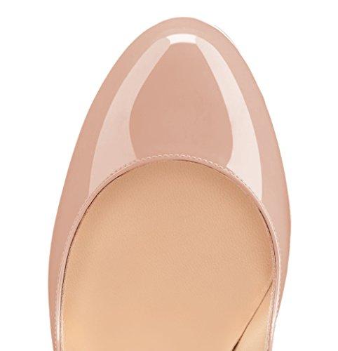Guoar - Scarpe chiuse Donna Natural Lackleder