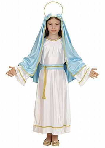 erkostüm Heilige Maria, Tunika, Gürtel, Kopfbedeckung mit Heiligenschein, Größe 140 (Jesus Und Maria Halloween Kostüme)